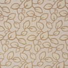 U0000E Beige And Brown Large Scale Leaves Upholstery Fabric By The Yard