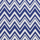 U0010A Navy And White Zig Zag Chevron Upholstery Fabric By The Yard