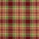 U0020A Burgundy And Green Country Plaid Upholstery Fabric By The Yard
