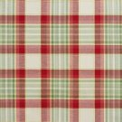U0020B Green And Red Country Plaid Upholstery Fabric By The Yard