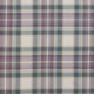 U0020C Green, Purple And Off White Country Plaid Upholstery Fabric By The Yard