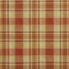 U0020D Light Green And Orange Country Plaid Upholstery Fabric By The Yard