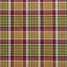 U0020E Purple And Green Country Plaid Upholstery Fabric By The Yard