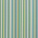 U0070C Teal, Green And White Smooth Thin Striped Upholstery Fabric By The Yard