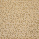 U0090A Gold Abstract Large Squiggly Pattern Upholstery Fabric By The Yard