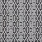 K0250B Black And Silver Connected Rectangles Silk Satin Look Upholstery Fabric By The Yard