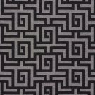 K0270A Black And Silver Shiny Geometric Two Toned Maze Silk Satin Look Upholstery Fabric By The Yard