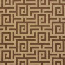 K0270B Brown And Gold Shiny Geometric Two Toned Maze Silk Satin Look Upholstery Fabric By The Yard