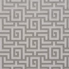 K0270D Silver And Grey Shiny Geometric Two Toned Maze Silk Satin Look Upholstery Fabric By The Yard