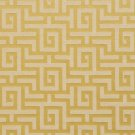 K0270E Gold Shiny Geometric Two Toned Maze Silk Satin Look Upholstery Fabric By The Yard