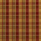 U0140A Red, Gold And Green Checkered Silk Satin Look Upholstery Fabric By The Yard