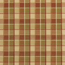 U0140D Persimmon And Green Checkered Silk Satin Look Upholstery Fabric By The Yard