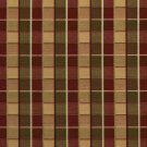 U0140F Green And Burgundy Checkered Silk Satin Look Upholstery Fabric By The Yard