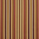 U0160C Burgundy, Green And Gold Shiny Thin Striped Silk Satin Look Upholstery Fabric By The Yard