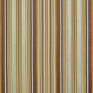 U0160D Teal, Green And Brown Shiny Thin Striped Silk Satin Look Upholstery Fabric By The Yard