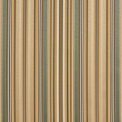 U0160F Green, Light Blue And Gold Shiny Thin Striped Silk Satin Look Upholstery Fabric By The Yard