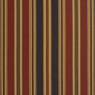 U0190D Black, Green And Burgundy Various Size Striped Silk Satin Look Upholstery Fabric By The Yard