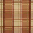 U0200B Peach, Green And Wine Multi Color Plaid Silk Satin Look Upholstery Fabric By The Yard