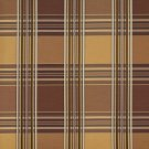 U0220E Brown And Gold Shiny Various Size Stripes Plaid Silk Satin Look Upholstery Fabric By The Yard