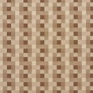 U0240B Brown And Beige Checkered Silk Satin Look Upholstery Fabric By The Yard