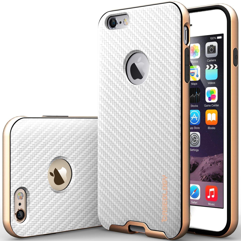 for apple iphone 6 plus 5 5 inch case carbon fiber white slim fit skin cover. Black Bedroom Furniture Sets. Home Design Ideas