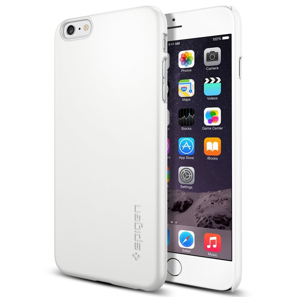 spigen perfect fit for apple iphone 6 plus 5 5 case slim fit series thin fit shimmery white. Black Bedroom Furniture Sets. Home Design Ideas