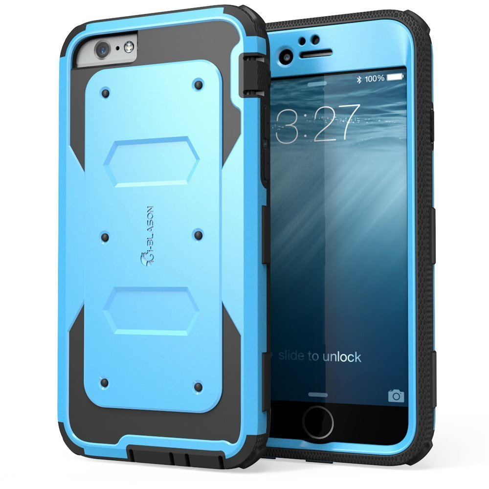i blason iphone 6 4 7 armorbox case with screen protector blue. Black Bedroom Furniture Sets. Home Design Ideas