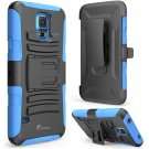 i-Blason [Kickstand] Prime Series [Dual-Layer] Holster Case for Samsung Galaxy S5