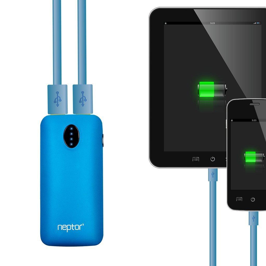 neptor 5600mah dual port portable battery charger for. Black Bedroom Furniture Sets. Home Design Ideas