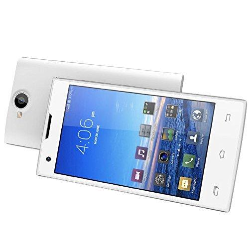 unlocked original leagoo lead 4 4gb 4 0 inch 3g android 4 2 2 smart phone dual core white. Black Bedroom Furniture Sets. Home Design Ideas