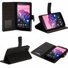 SUPCASE Google Nexus 5 Premium Wallet Leather Case Black Hard Shell- Black