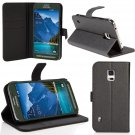 Galaxy S5 Active , SUPCASE Premium Wallet Leather Case for Samsung Galaxy S5 Active (SM-G870A- Black