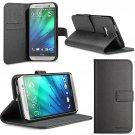 HTC One M8 Case, SUPCASE Premium Wallet Leather- Black