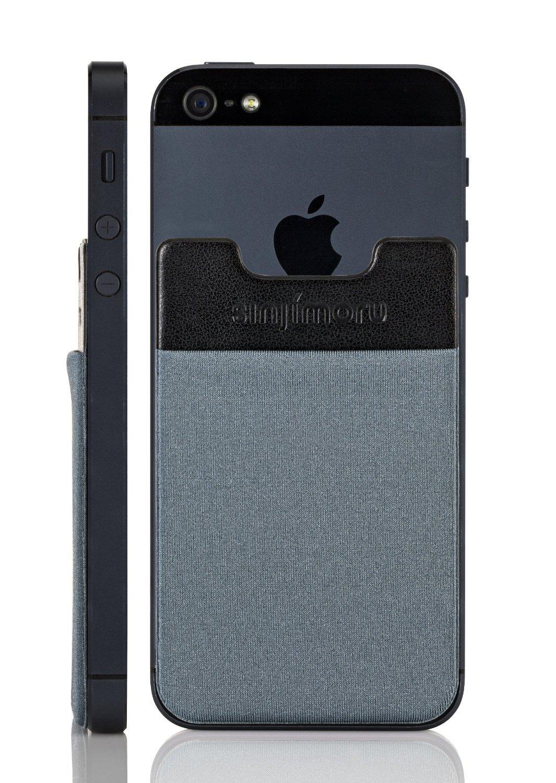 sinjimoru sinji pouch b3 adhesive accessory pocket for all iphone samsung blue grey. Black Bedroom Furniture Sets. Home Design Ideas