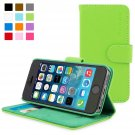 Snugg iPhone 5 / 5s Case - Leather Flip Case with Lifetime Guarantee (Green) for Apple iPhone 5 / 5s