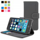 Snugg iPhone 5 / 5s Case - Leather Flip Case with Lifetime Guarantee (Grey) for Apple iPhone 5 / 5s