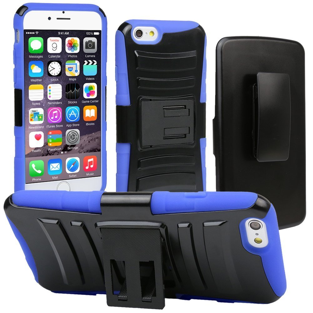 evecase iphone 6 case robust rugged dual layer holster