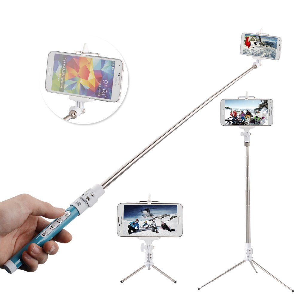 tontec multi function bluetooth selfie stick with remote shutter zoom button. Black Bedroom Furniture Sets. Home Design Ideas