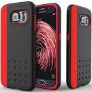 Caseology [Threshold Series] Samsung Galaxy S6 case [Red / Black] [Sleek Armor]