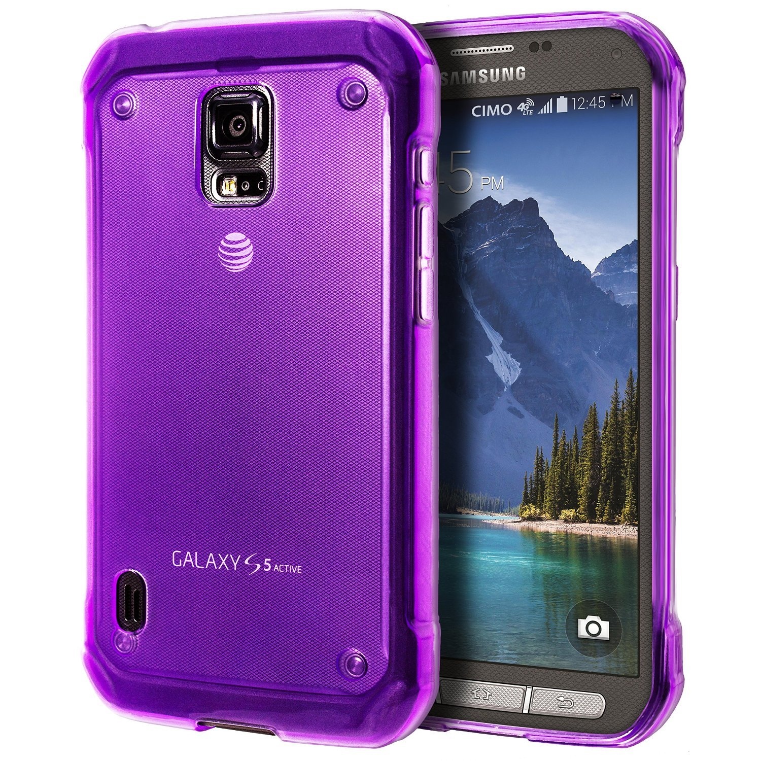 cimo grip premium slim tpu flexible soft case for samsung galaxy s 5 v 2014 purple. Black Bedroom Furniture Sets. Home Design Ideas