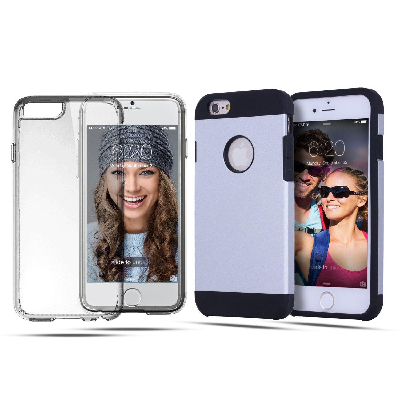 iphone 6 case for the active user get 2 cases lightning silver clear. Black Bedroom Furniture Sets. Home Design Ideas