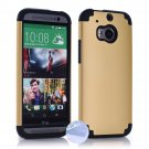 Arbalest Hybrid Skin PC + Silicone Combo Cover Case for HTC ONE 2014 M8 Smartphone - Gold