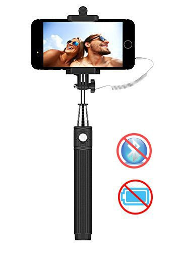 selfie stick kiwii selfie stick monopod 3 in 1 self portrait monopod extendable battery. Black Bedroom Furniture Sets. Home Design Ideas