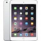 """Apple iPad mini 3 A1600 7.9"""" Retina Display 16GB WiFi + 4G LTE UNLOCKED Tablet Silver"""