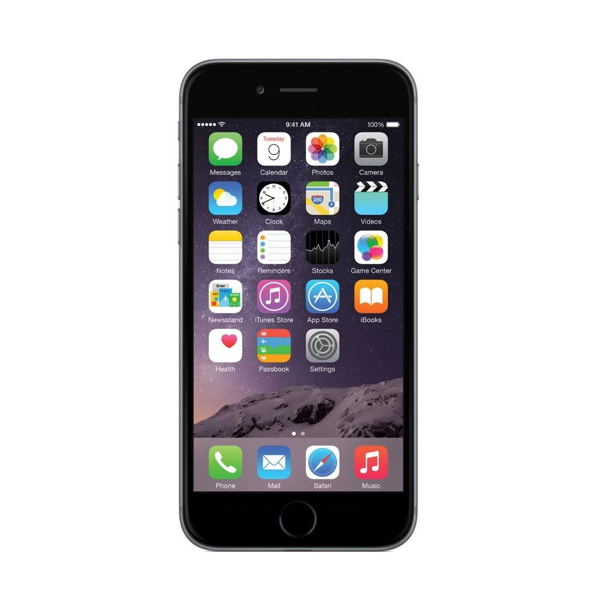apple iphone 6 plus 64gb verizon wireless 4g lte 8mp camera ios smartphone gray. Black Bedroom Furniture Sets. Home Design Ideas