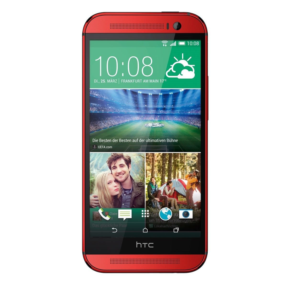 Htc – One (M8) 4G Lte Cell Phone – Red (Verizon Wireless)