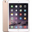 """Apple iPad mini 3 A1600 7.9"""" Retina Display 16GB WiFi + 4G LTE UNLOCKED Tablet Gold"""