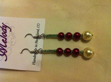 Beaded Holiday Earrings
