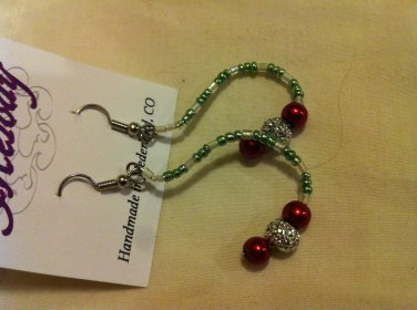 Beaded Holiday Earrings