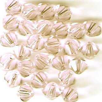 Swarovski Crystal 24 Silk 4mm Bicones 5301